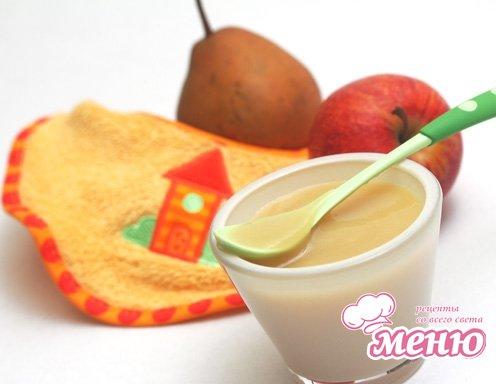 Детское питание: яблочно-грушевое пюре