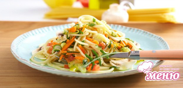 Салат со спагетти